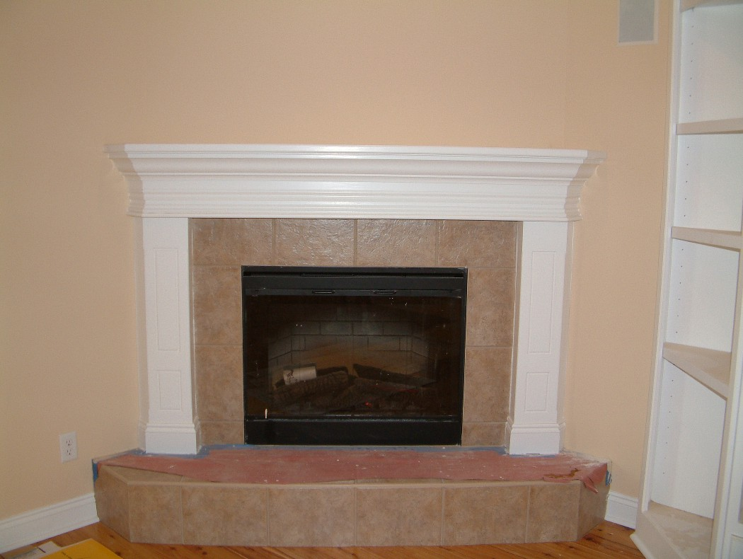 Fireplace Mantels Trim Work Door Replacement Rotten Wood Repair Cabinets Tile Painting